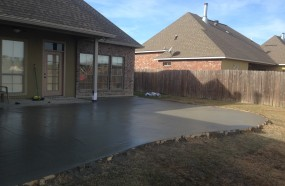 Back Patio poured in walker