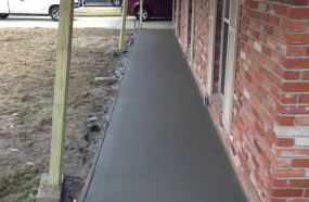 New front porch with better drainage in Baton rouge off of drusilla
